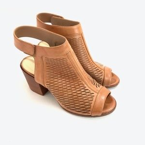 Vince Camuto Brown Perforated Heel Sandals